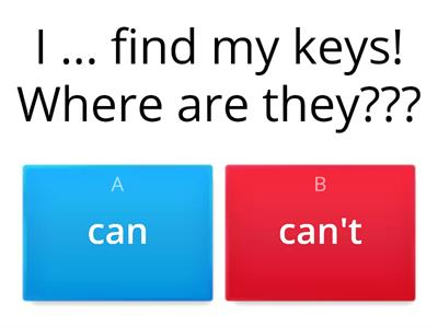 Can VS Can`t