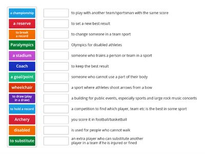 Sport Vocabulary