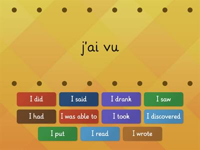 French irregular perfect tense