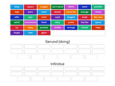 Gerund or infinitive (NEF Int+)