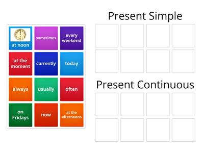 A1 Present Simple/ Present Continuous