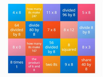 eight times table