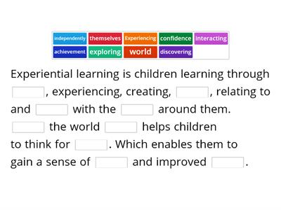 Experimental Learning/Play