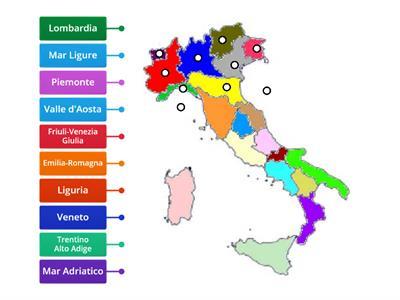 Cartina Muta Regioni Italia Settentrionale.Regioni Italia Settentrionale Risorse Per L Insegnamento