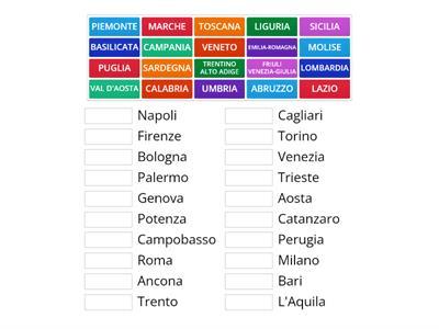 Cartina Muta Italia Regioni E Capoluoghi Da Stampare.Regioni E Capoluoghi Italia Risorse Per L Insegnamento