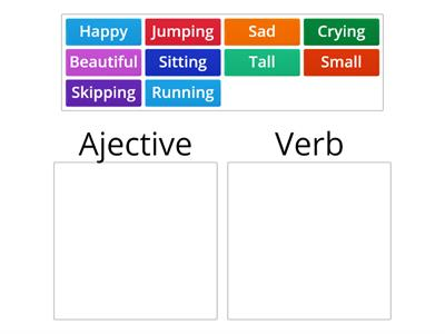 Adjectives and Verb sort KS1