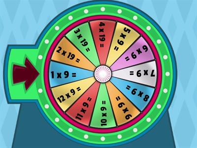 10 times table spin wheel