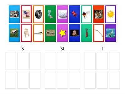 Picture Sort for S, St, and T