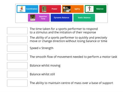 Match up Components of Skill Related Fitness - BTEC