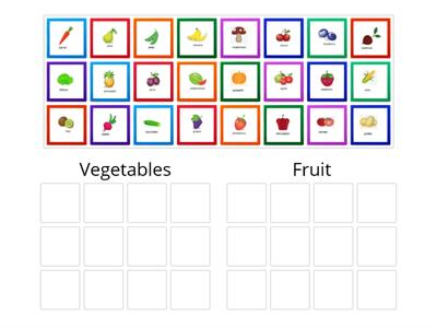 Fruit and vegetables - Group sort