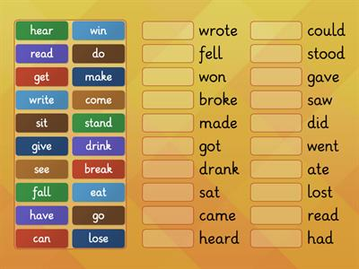 Irregular verbs - Starlight 4