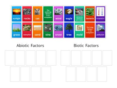 Abiotic vs Biotic Factors