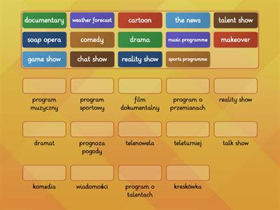 types of tv programmes translation