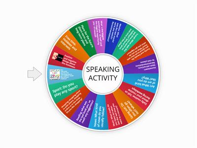 SPEAKING activity for adults