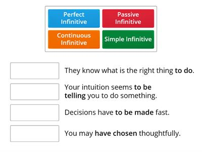 Infinitives/Choices U-I