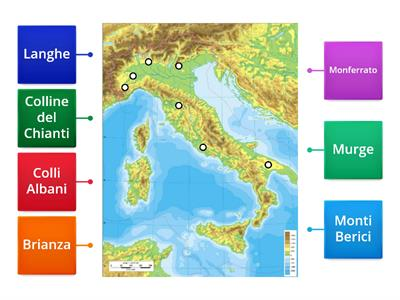 Cartina Fisica Italia Colline.Le Colline Europee Risorse Per L Insegnamento