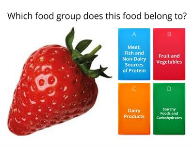 Food Groups Quiz - Science Week 2