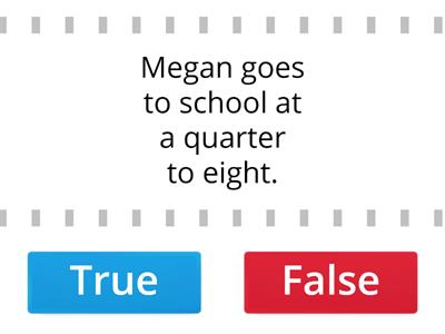 4. True or false - Year 4 Student`s book page 8.