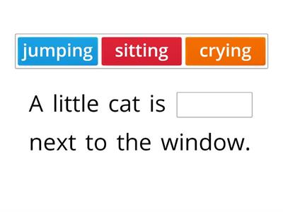Missing word- a little cat