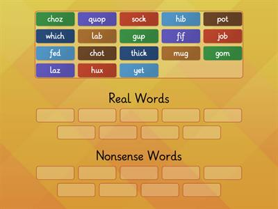 Real or Nonsense Words Substep 1.3
