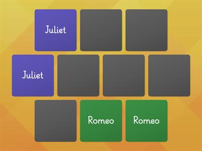 Romeo and Juliet character name match