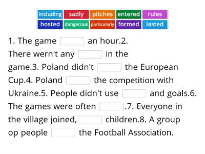 p 32 the history of football vocabulary