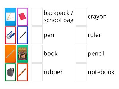 School supplies (Bugs Team)