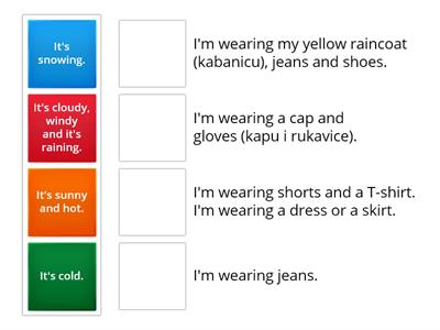 Grade 2 - Clothes and weather