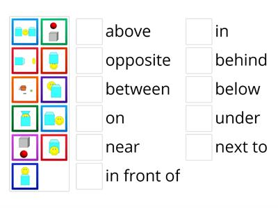 English Class A2+ unit 5.1 Prepositions of place