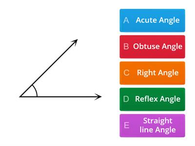 Quiz types of angles