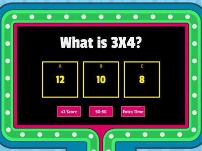 Multiplication Practice 3,4,5