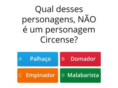PERSONAGENS CIRCENSES