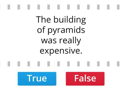 Ancient Egypt facts. True or false?