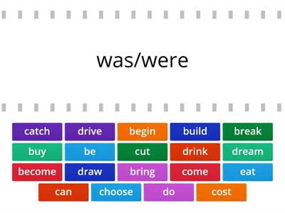 PAST SIMPLE IRREGULAR VERBS - MATCH UP