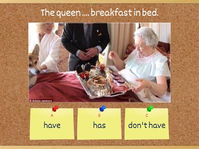 Check upon the queen's routine - GiveMe5 :-)