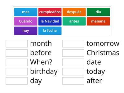 Extra vocab - Days and months