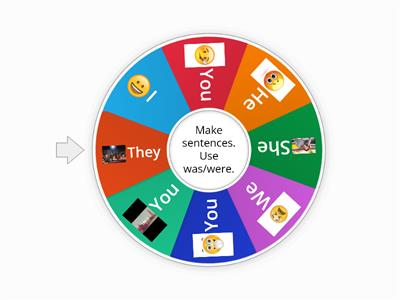 Spin the wheel and make sentences.