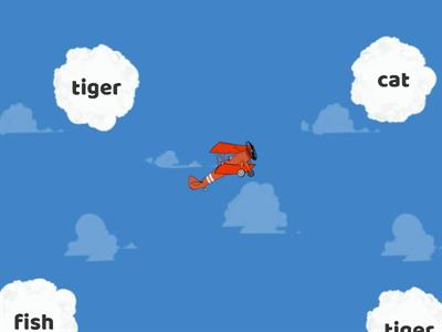 Phonics Tt-  Look at the pictures and tap on the clouds with the words that start with the Tt sound.