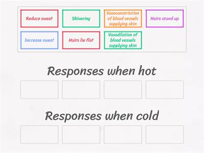 Temperature regulation - hot vs cold