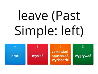 PAST SIMPLE - irregular verbs part 2 (meaning)