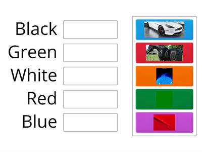 Match The Color With words