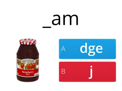 Choose j or dge spelling