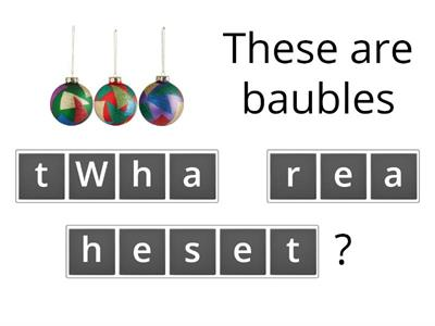 What is this/that? What are these/those? Christmas vocabular