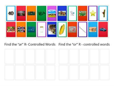 R Controlled Vowel Sort Phonological Awareness
