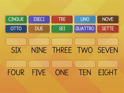 NUMBERS (from 1 to 10)senza immagini