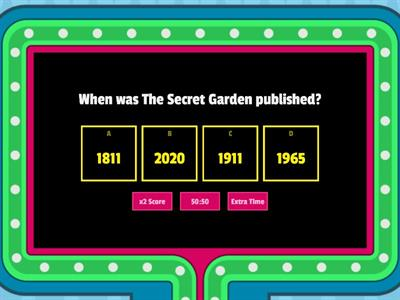 Fun Friday Quiz- The Secret Garden