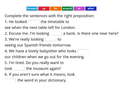 B1 - Phrasal verbs with 'look'