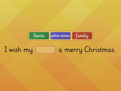 Christmas wishes sentences