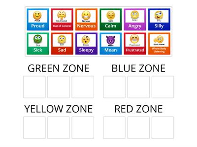 Zones of Regulation Game
