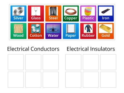 Sorting Electrical Conductors and Insulators